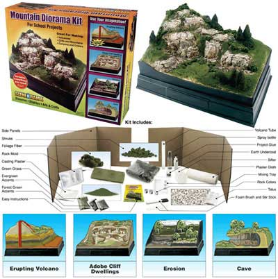 Scene-A-Rama - Mountain Diorama Kit