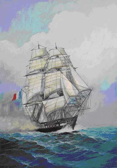 French Frigate Acheron