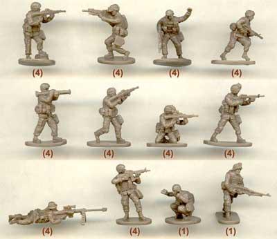Caesar Miniatures H030 Modern US Army 1:72