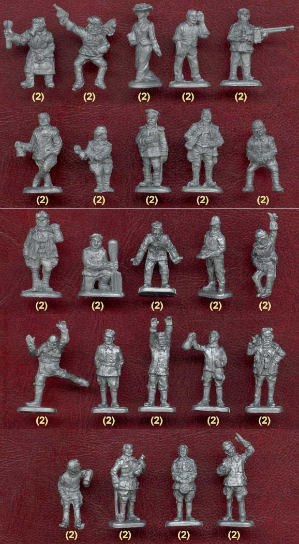 RUSSIA /& GB FRANCE ORION FIGURES 1//72  PILOTS OF WWI DDS72003 48 GERMANY