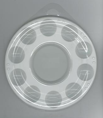 10 Well Plastic Palette with Clear Plastic Cover- Round