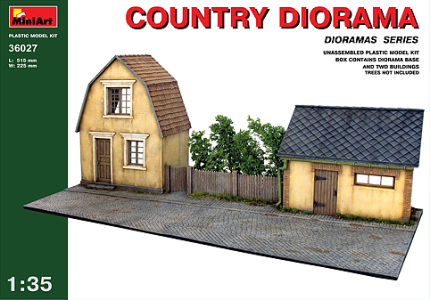 Country House and Barn Diorama Base