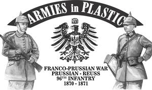 Franco-Prussian War Prussian - Reuss 96th Inf. 1870 - 1871