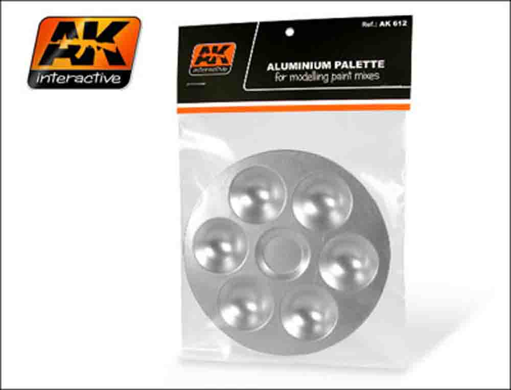AK Interactive - Aluminum Paint Palette with 6 Wells (Small)