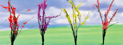 Flowering Bushes - Small - Red, Pink, Yellow, Purple (60 per pkg)