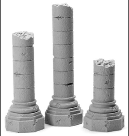 Romanesque Ruined Octagonal Base Column Combo Pack