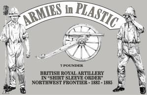 Northwest Frontier 1882-85 British Royal Artillery in Shirt Sleeve Order