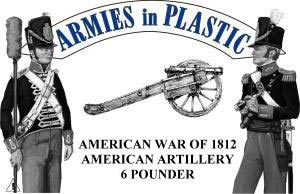 War of 1812 American Artillery - Blue Plastic