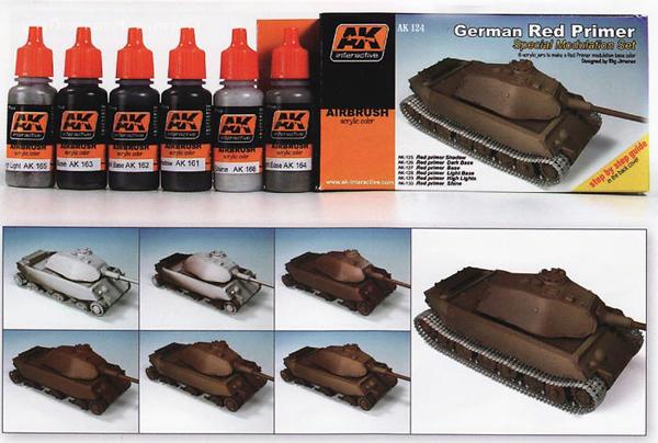 Afv Acrylic Paint Set German Red Oxide Primer Color Modulation