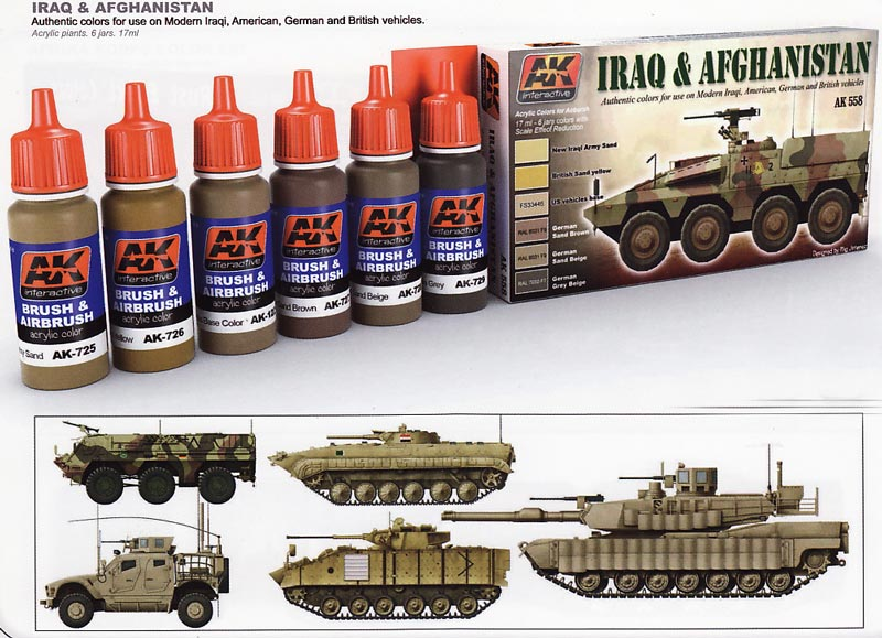 AFV  Acrylic Paint Set: Iraq And Afghanistan