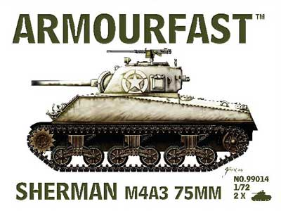 WWII US Sherman M4A3 75mm