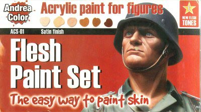 Andrea Color Flesh Paint Set