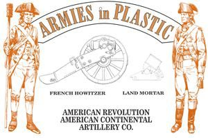 American Revolution Continental Artillery Co with Howitzer and Mortar