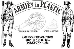 American Revolution Yorktown 1781 French Artillery Co with Howitzer and Mortar