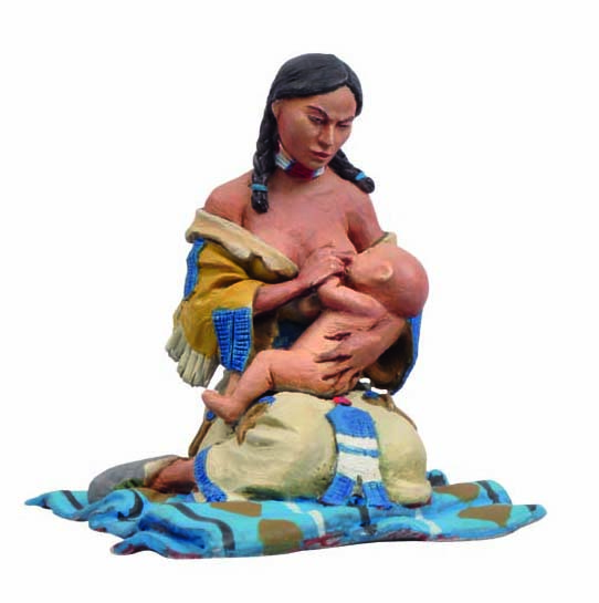 The Indians: Mother Feeding Baby