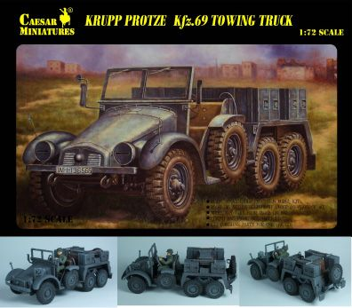 Military Series: WWII Krupp Protze Kfz69 Towing Truck