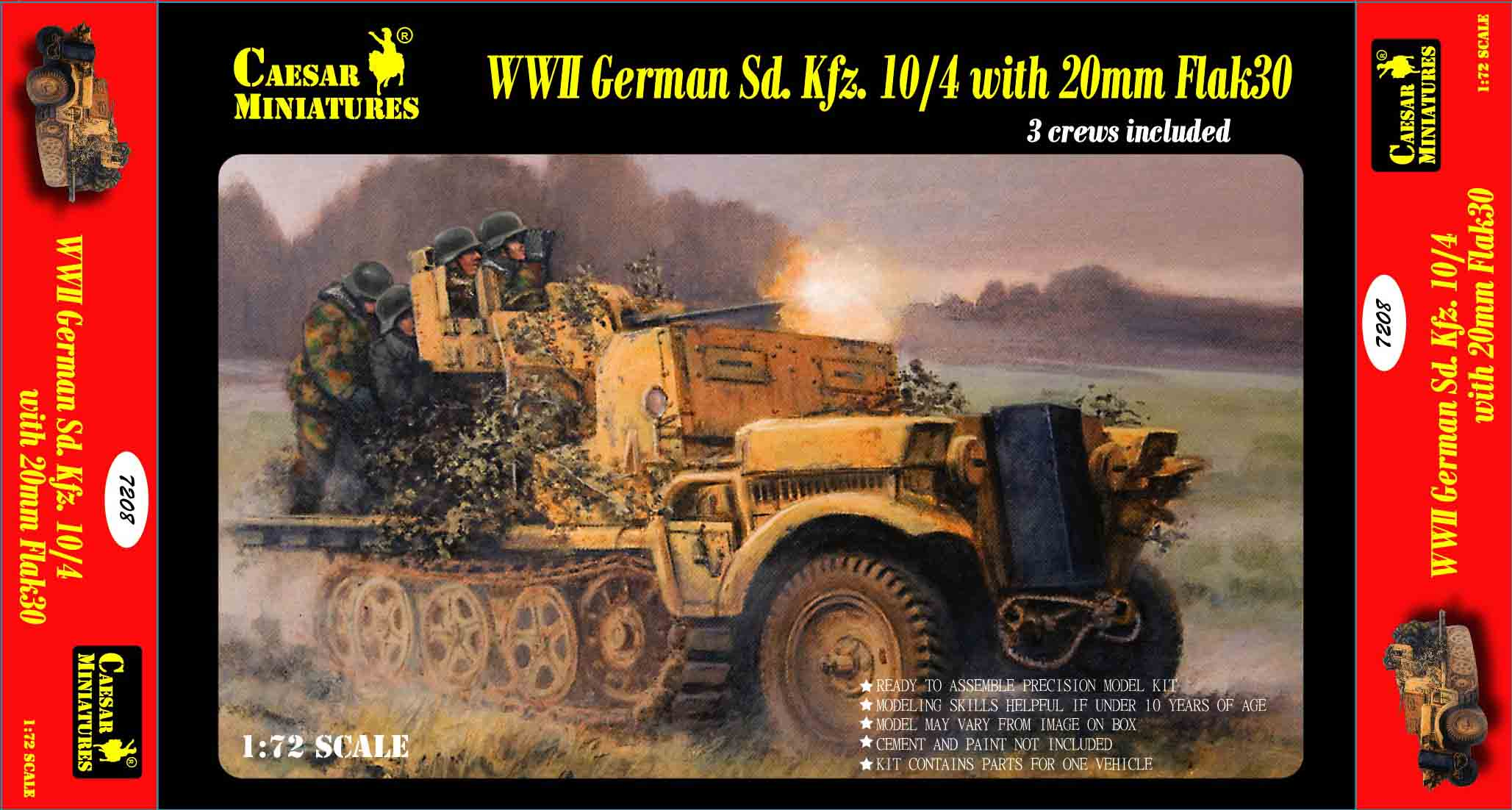 Military Series: WWII German Sd. Kfz.10-4 with 20mm Flak 30