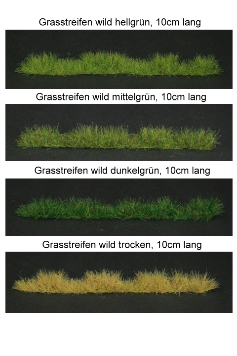 Strips of Grass- Wild Grass Mix of Heights in 10cm Length, Light Green