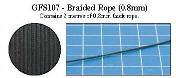 Hobby Rounds- Braided Rope (1.5mm)