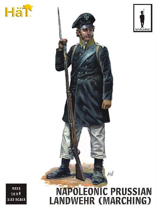 Napoleonic Prussian Landwehr Marching