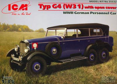 WWII German Personnel Car Typ G4 (W31)