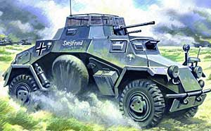 WWII German SdKfz 222 Light Armored Vehicle