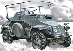 WWII German Sd.Kfz.223 Radio Communication Vehicle