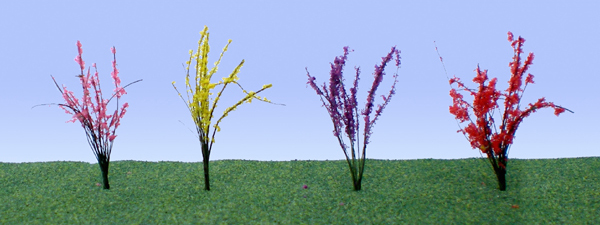 Flowering Bushes - Large - Red, Pink, Yellow, Purple (48 per pkg)