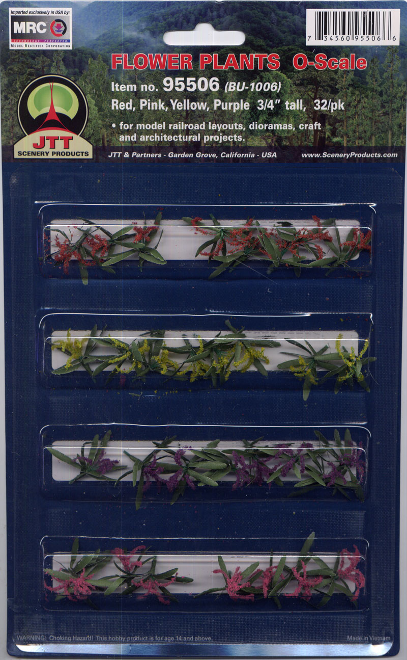 Flowering Plants - Large  - Red, Pink, Yellow, Purple (32 per pkg)