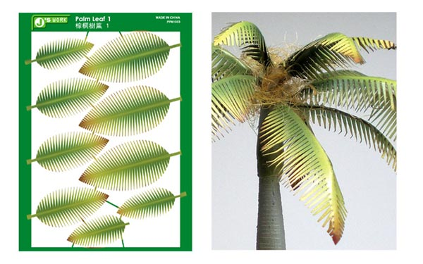 Multi-Scale Typical Palm Leaves (Colored Paper)