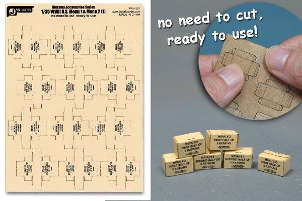 WWII US Military MRE Small Boxes (12pcs) (Pre-cut Cardboard)