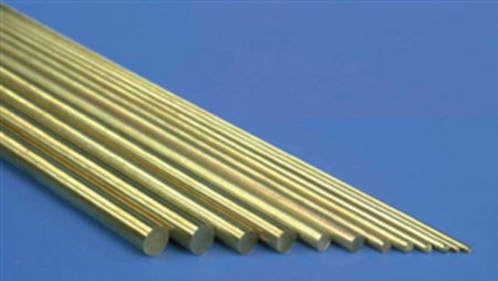 Solid  Brass Rod .020 x 12 - 5 pcs.