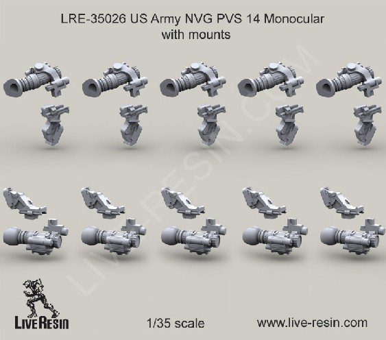 US Army NVG PVS 14 Monocular Mounts 10 pcs.