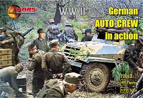 WWII German Auto Crew in Action