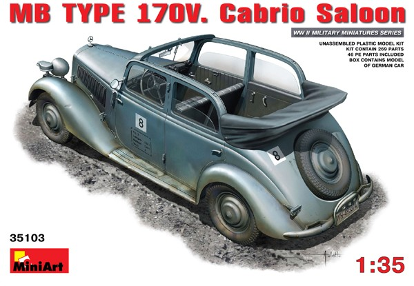 WWII German MB Type 170V Convertible Saloon Car