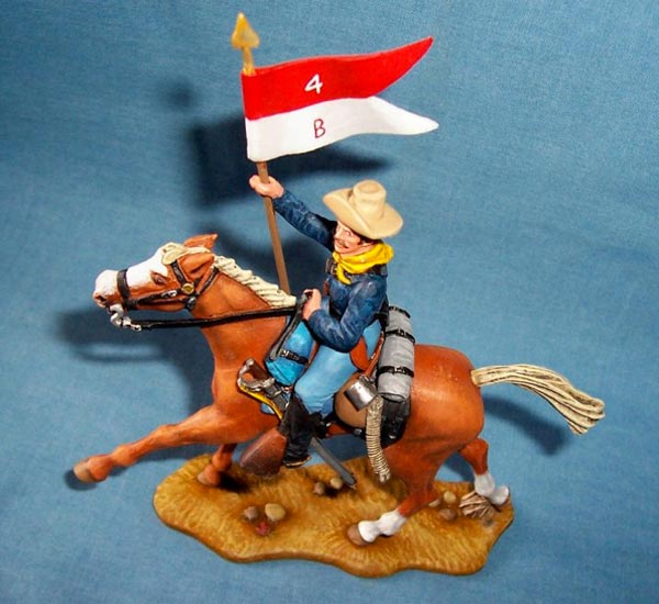 Mounted 7th Cavalry Trooper with Guidon