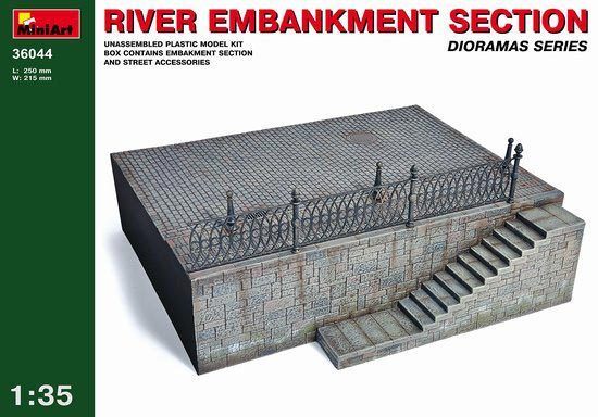 River Embankment Section Diorama Base
