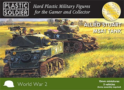 WW2 Allied M5A1 Stuart Tank