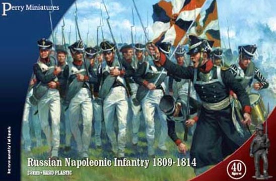 Perry Miniatures Napoleonic Russian Infantry 1809-1814 ( 40 figures)