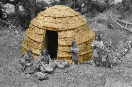 Woodland Indians Wigwam - ONLY 1 AVAILABLE AT THIS PRICE