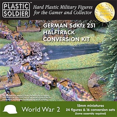 WWII German SdKfz 251 Halftrack Conversion Sets- 16 & 24 Crew