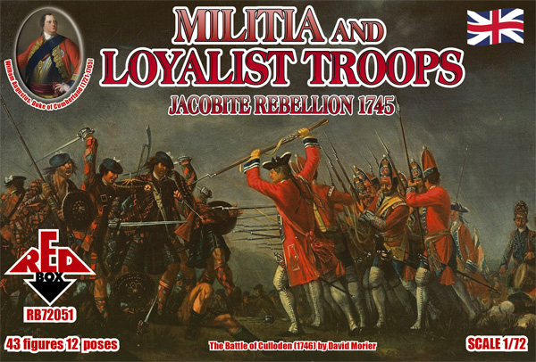 Jacobite Rebellion Militia and Loyalist Troops 1745