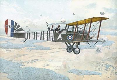WWI British Airco (De Havilland) DH9 2-Seater World War I BiPlane Bomber