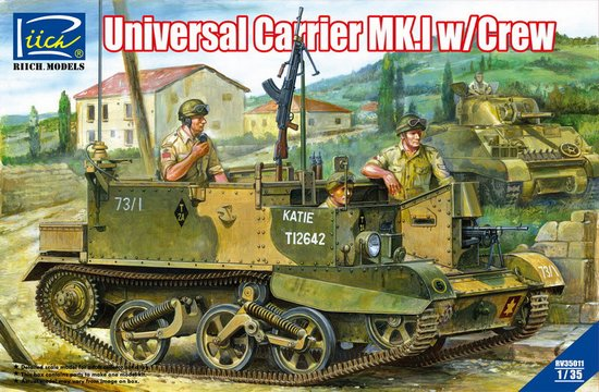 WWII British Universal Carrier Mk.I w/Crew and Photo-etched Parts