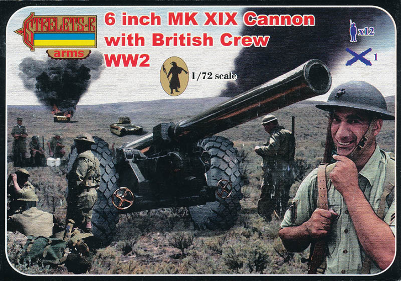 Strelets Arms - WWI 6 Inch Mk XIX Cannon with British Crew
