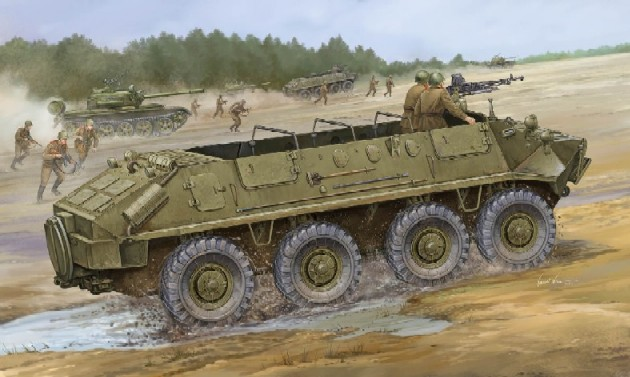 Cold War Russian BTR-60P Soviet Armored Personnel Carrier