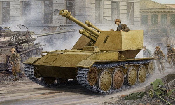 WWII German Krupp/Ardelt Waffentrager 105mm leFH18 Tank Destroyer