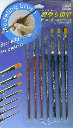 Modeling Brushes 7 Piece Set