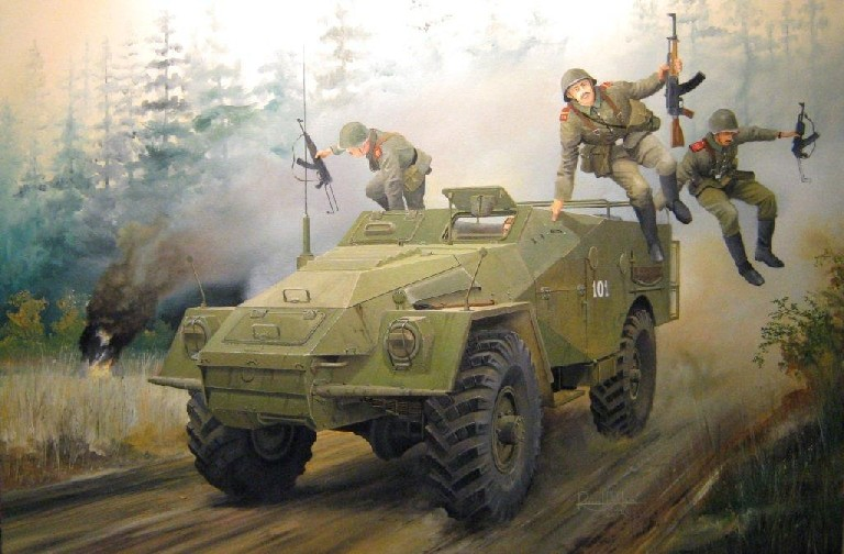 Russian BTR-40 Armored Personnel Carrier