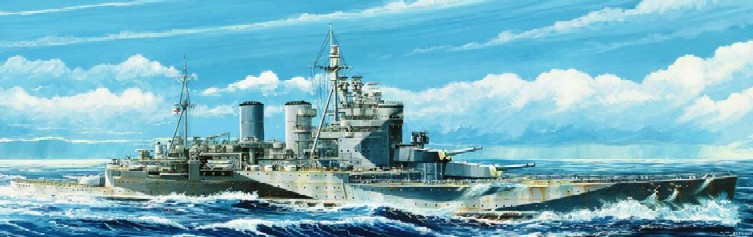 HMS Renown British Battle Cruiser 1945